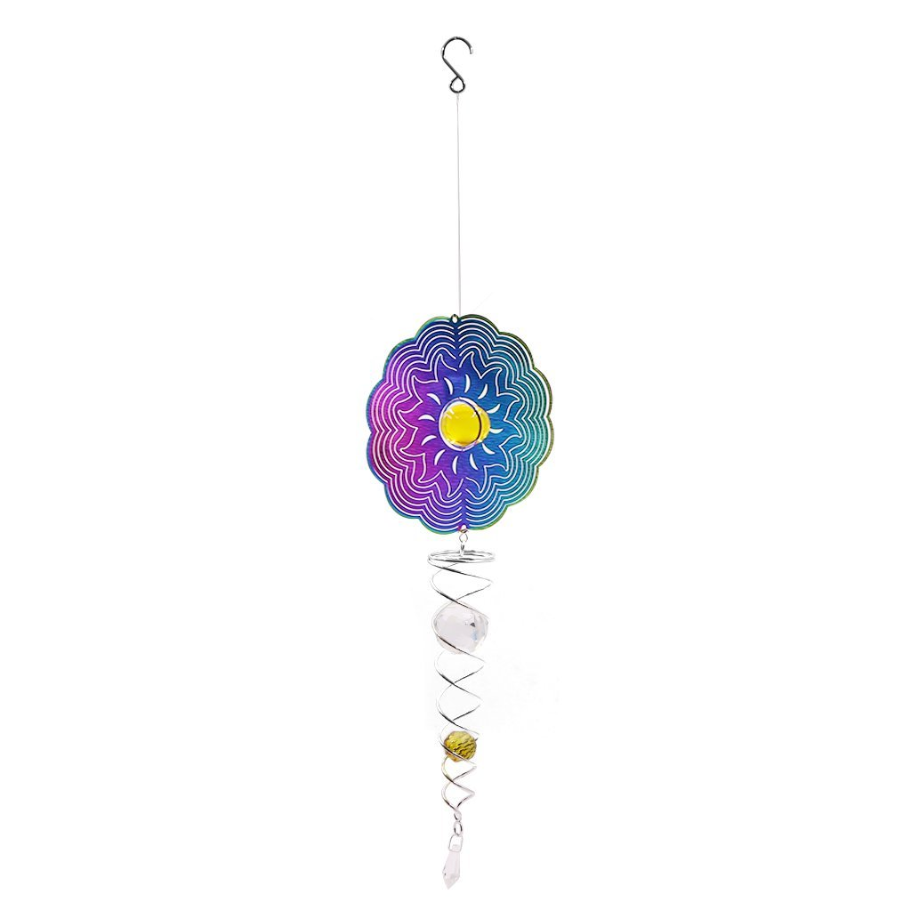 Fvstar Garden 3D Sun Wind Spinner Outdoor Yard Wind Spinners Kinetic Whirligig Lawn Hanging Decor Patio Sculptures for Courtyard