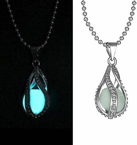 Fashion Gold Plated Blue Turquoise Pendant Leather Chain Necklaces