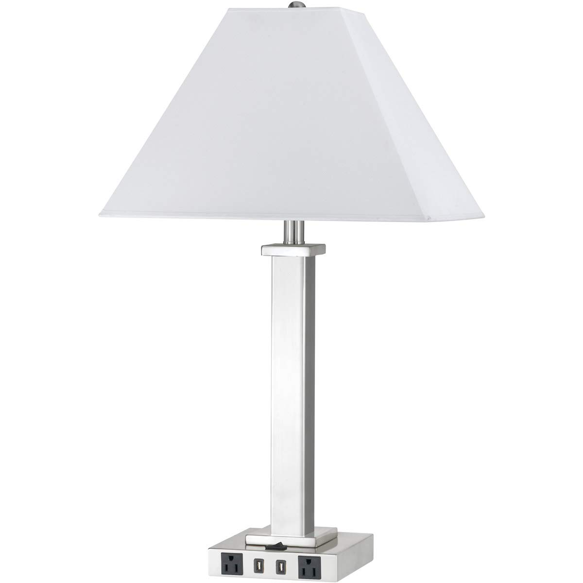 Table lamps 1 light fixtures with brushed steel finish metal material e26 bulb 16 100 watts amazon com