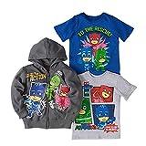 PJ Masks Hoodie Combo Set - 1 Hoodie & 2 PJ Masks T-Shirts Featuring Catboy, Gekko & Owlette, Owlette Combo Set (7)