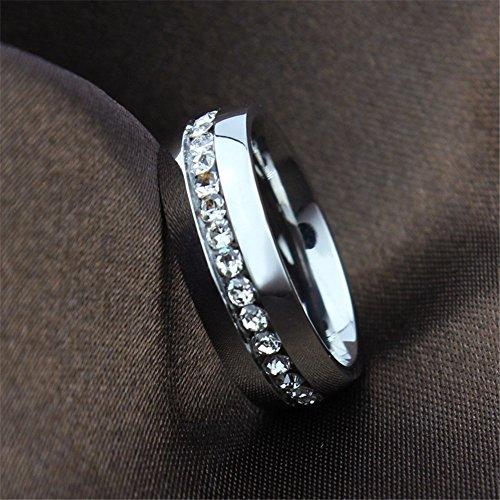 K Mega Bijoux Mens acier inoxydable acier bague, argent, cristal, Vintage, KR2063