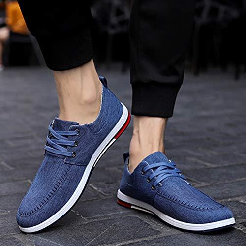Size uomo casual di da Blue di Black da Color estiva uomo scarpe scarpe 44 selvaggia tela WangKuanHome denim scarpe tendenza Scarpe tela HvHag