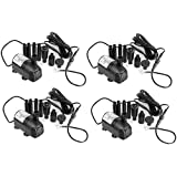 AEO 12V - 24V DC 410GPH Brushless Submersible Water Pump for Solar Fountain Fish Pond, 4 Pack