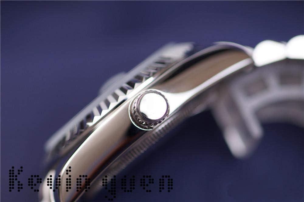 GFDSA Herren Tag Datum Gold Silber Schwarz Grün Uhr Automatische mechanische Edelstahl Saphir Tag Datum Uhren 41mm White Gold