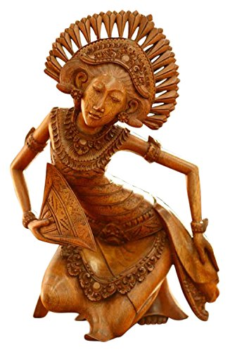 NOVICA 28207 Janger Dancer Wood Statuette