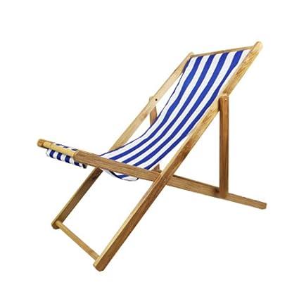 Wondrous Amazon Com Lovehouse Wood Beach Chair Foldable Sling Chair Ocoug Best Dining Table And Chair Ideas Images Ocougorg