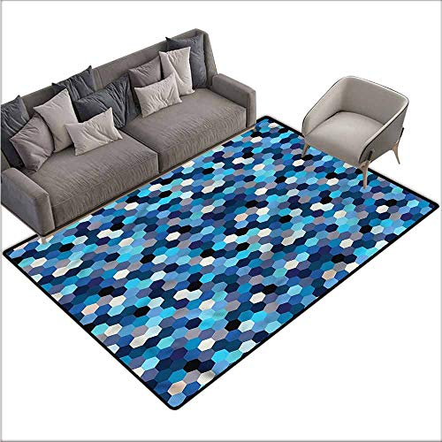 Anti-Slip Toilet Doormat Home Decor Abstract,Blurry Rectangulars 60