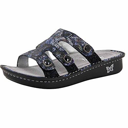 Alegria Womens Venice Slide Sandal Quarry Crackle Size 36 EU (6-6.5 M US Women) (Footwear Crackle)