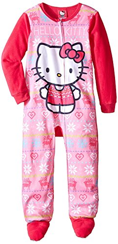 Hello Kitty Big Girls' Fleece Blanket Sleeper, Pink, Small
