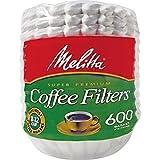Melitta MLA631132 Super Premium Basket-Style Coffee Filter - White44; 600 Count