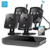 Zmodo Replay 4CH 720P 1TB Wireless Home Surveillance Security Camera System - 2 Outdoor & 2 Indoor IP Network Camera 4 Channel NVR 1TB Hard Drive ()