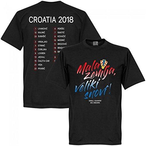 ナチュラ受取人冒険者RE-TAKE(リテイク) クロアチア代表 2018 Mala zemlja, Veliki snovi Squad Tシャツ(ブラック)BLACK-PNN-4077P