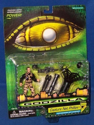 Godzilla Capture Net Phillipe with Blasting Net Launcher Trendmasters 08565