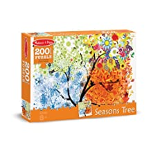 Melissa & Doug Seasons Tree Jigsaw Puzzle - Winter, Spring, Summer, and Fall (200 pcs)