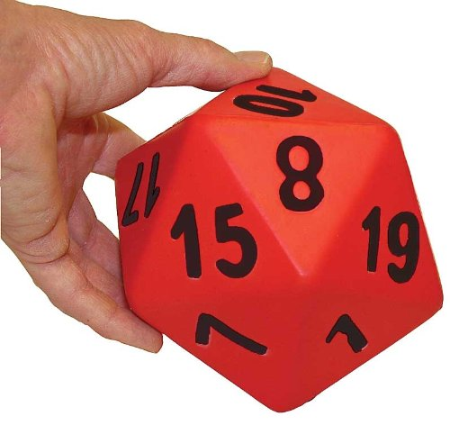 Great Lakes Sports Large (Hand Size) 20 Sided Foam Dice (Sold as a Set of 6) by Great Lakes Sports (Image #2)