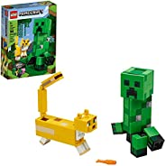 LEGO Minecraft Creeper BigFig and Ocelot Characters 21156 Buildable Toy Minecraft Figure Gift Set for Play and