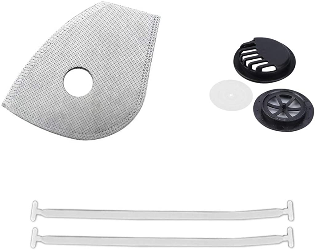10/20/30 DIY Shield Cover material set Face protector(Package includes:filter+elastic band + valve)