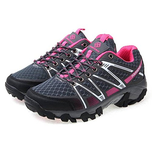 EpicStep Women's Pink Grey Athletic Sports Outdoor Hiking Trekking Walking Trail Mountaineering Trainers Shoes 7.5 M US