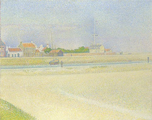 The Perfect Effect Canvas Of Oil Painting 'Georges Seurat The Channel Of Gravelines Grand Fort Philippe ' ,size: 20 X 25 Inch / 51 X 64 Cm ,this High Definition Art Decorative Canvas Prints Is Fit For Game Room Decoration And Home Decoration And Gifts