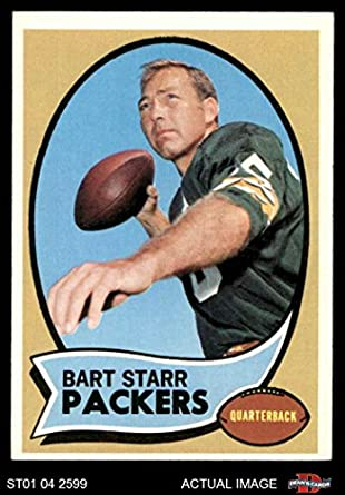 Amazoncom 1970 Topps 30 Bart Starr Green Bay Packers