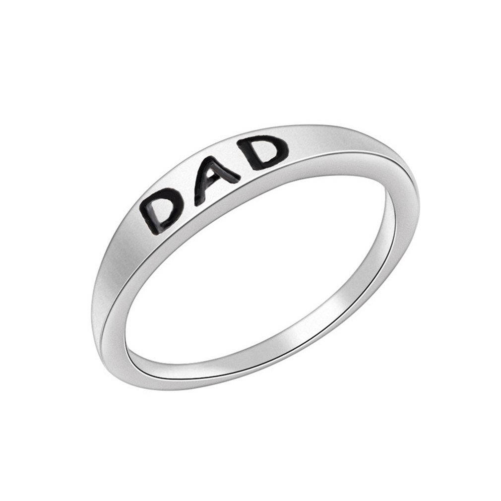 LnLyin Men's Dad Rings Comfort Fit Father 's Day Fashion Gift