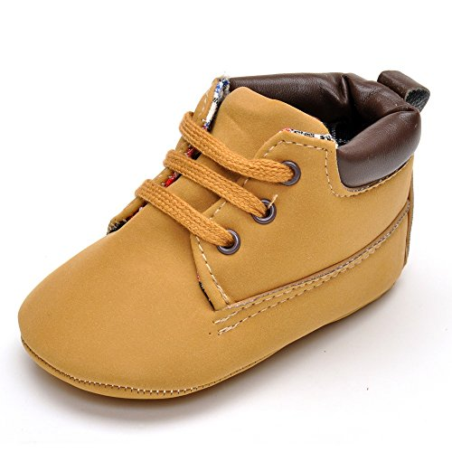 Infant Boys' Brown High-top Pu Sneakers