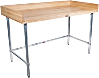 "product image for John Boos DNB17 Work Table w/ Maple Wood Top & Galvanized Legs, 96"" x 36"""