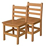 Wood Designs WD81502 Child's Chair, 15'' Height Seat, (2) Per Carton