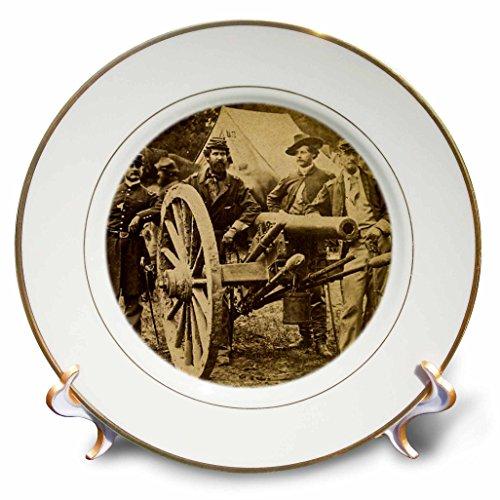 "3D Rose Vintage Civil War 1862 Battle of Fair Oaks Virginia Stereo View Porcelain Plate, 8"""