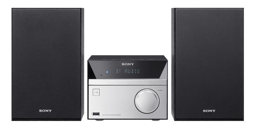 Sony Micro Hi-Fi Stereo Sound System with Bluetooth Wireless Streaming NFC, CD Player, AM/FM Radio, Mega Boost, USB Playback & Charge, AUX Input, Remote Control