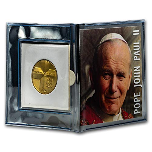 2003 PL Poland 2 Zlote John Paul II Mini Album Copper About Uncirculated