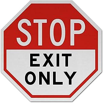 Amazon.com: Señales de tráfico - Señal de salida de parada ...