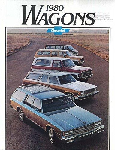 1980 Chevrolet Wagons sales brochure: Caprice Impala Malibu Blazer Suburban Van