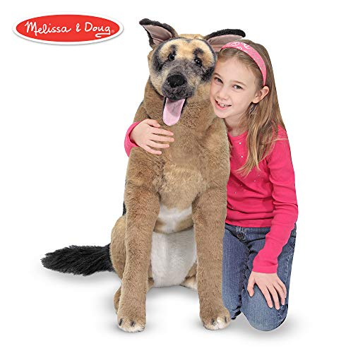Melissa & Doug Giant German Shepherd - Lifelike Stuffed Animal Dog  (over 2 feet tall) -