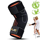 FENGJIDA MYOTEK Tennis Elbow Support Brace with Neoprene Compression Pad - Pain Relief for Tendonitis, Tennis and Golfers Elbow - Instructional eGuide - One Size Fits Most