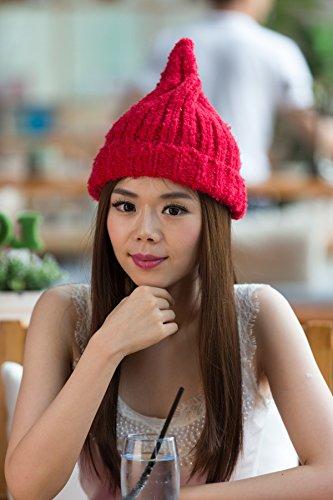 2 Lana 2COLOR Maozi alcanzó Hop Tapa Coreano Hip de Color Tejida señoras zqwTdf