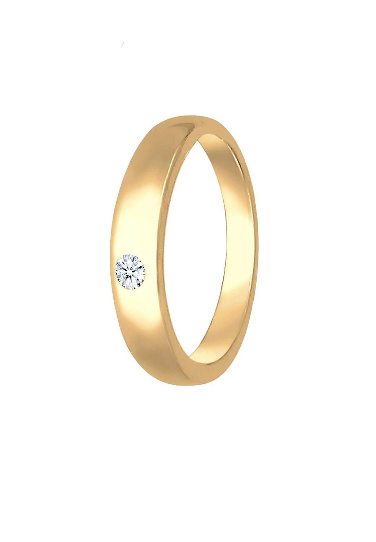Tauf-Ring K/örperschmuck Diamant 585 Gelbgold Elli Premium