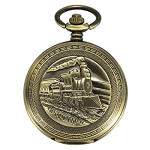 Amazon.com: ManChDa Antique Mens Pocket Watch Automatic ...