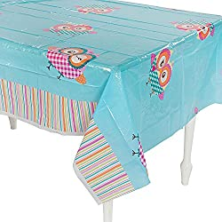 "You're A Hoot Tablecloth (54"" x 108"") Plastic."