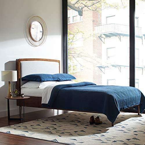 Rivet Modern Geometric Triangle Wool Rug, 8' x 10', Blue Ivo