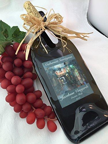 Melted Wine Bottle - Personalized Wine Bottle cheese Board