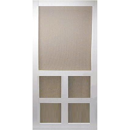 Kimberly Bay 36 In. X 80 In. Victoria White Vinyl Screen Door