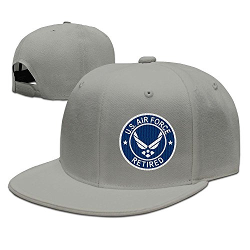 GAMMAGU US Air Force Retired Embroidery Plain Baseball Caps Visor Hats