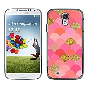Plastic Shell Protective Case Cover    Samsung Galaxy S4 I9500    Gold Pink Glitter Bling @XPTECH