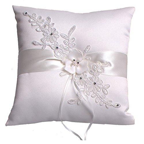 Hochzeit Ringkissen Kissen With Embroider Flower With Faux Pearl