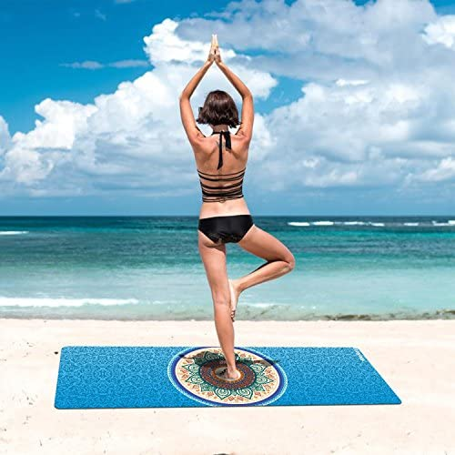 Amazon.com: Meileer - Alfombrilla de yoga plegable, ligera ...
