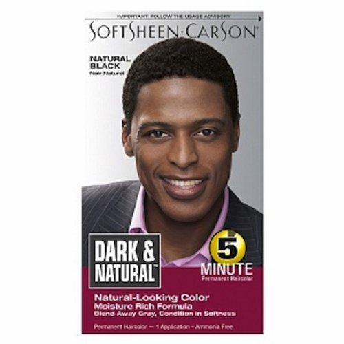 Men Dark & ​​Lovely la couleur des cheveux de l', Dark and Natural, Natural Black (pack de 2)