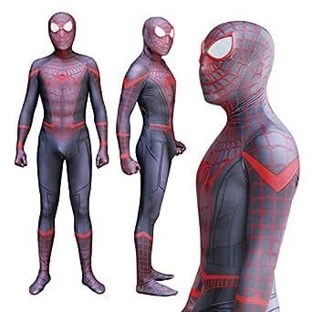 Amazon Com Spiderman Miles Morales Cosplay Costume Zentai