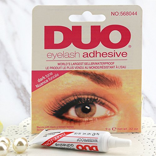 Eyelash Glue, Adhesive Waterproof Eyelash Glue Ardell Duo Striplash Adhesive False Eye Lash Glue(Clear White/Black) (Black) FAVOLOOK 15160916230327