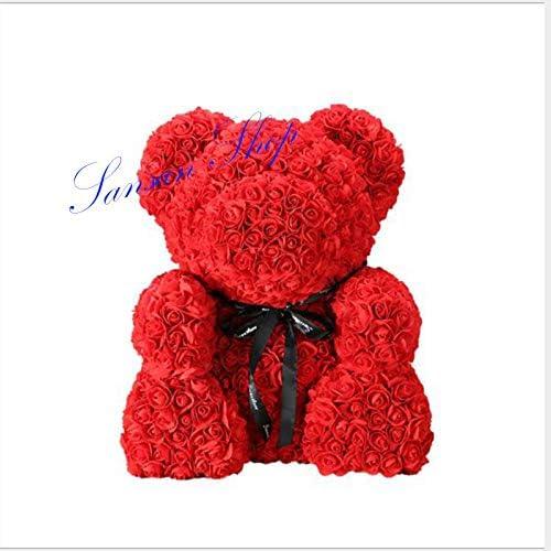 Romantic Anniversary Wedding Valentine Endless Love Rose Flower Teddy Bear